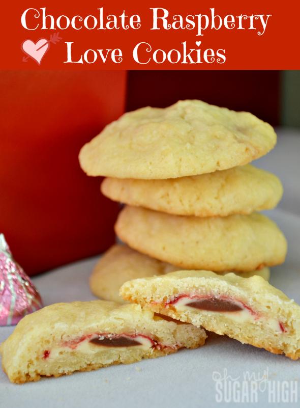 Chocolate Raspberry Love Cookies