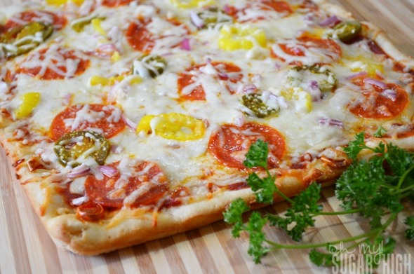 Spicy Pepper and Cheese Crusted Pizza 1