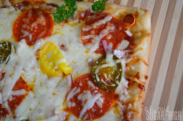Spicy Pepper and Cheese Crusted Pizza 2