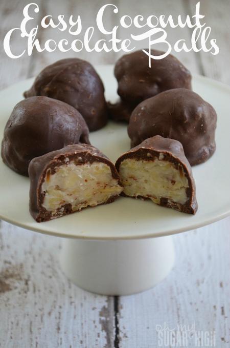 Easy Coconut Chocolate Balls