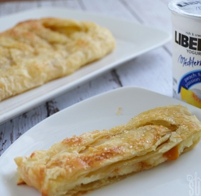 Peach Mango Cream Cheese Danish | A Perfect Pairing with Liberté Méditerranée Yogurt