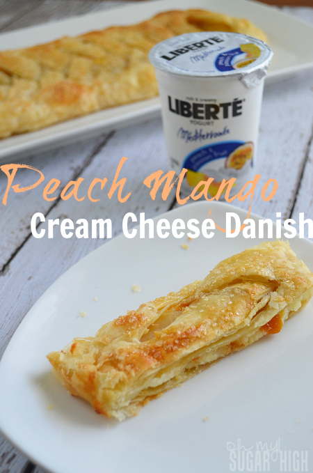 Peach Mango Cream Cheese Danish with Liberte Yogurt