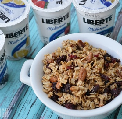 Homemade Berry Pecan Granola | A Perfect Pairing with Liberté Méditerranée Yogurt