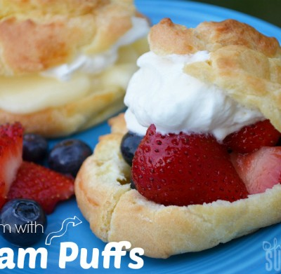 Cream Puffs: Fruit, Pudding and Whipped Cream Filled, Oh My!