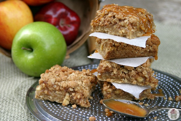 Caramel-Apple-Nut-Bars Hoosier Homemade