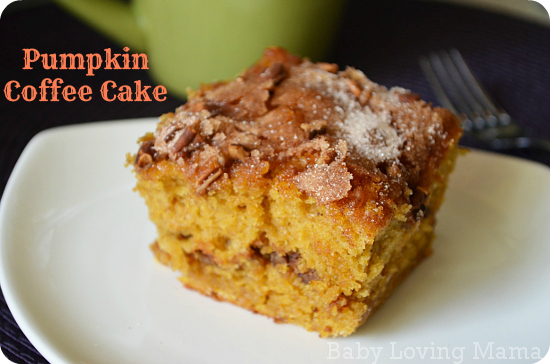 Pumpkin Coffee Cake Baby Loving Mama