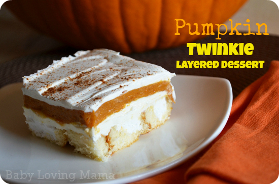 Pumpkin-Twinkie-Layered Twinkie Dessert Baby Loving Mama