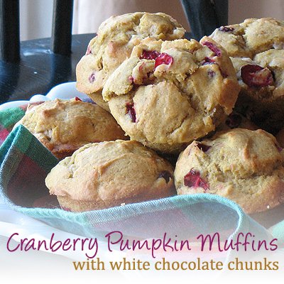 pumpkin cranberry muffins with white chocolate chunks amandas cookin