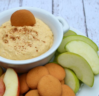 Pumpkin Coconut Fruit Dip with Yoplait Greek Yogurt