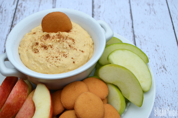 Pumpkin Coconut Fruit Dip using Yoplait Greek