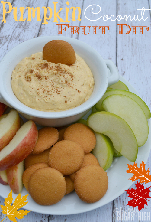 Pumpkin Coconut Fruit Dip with Yoplait Greek