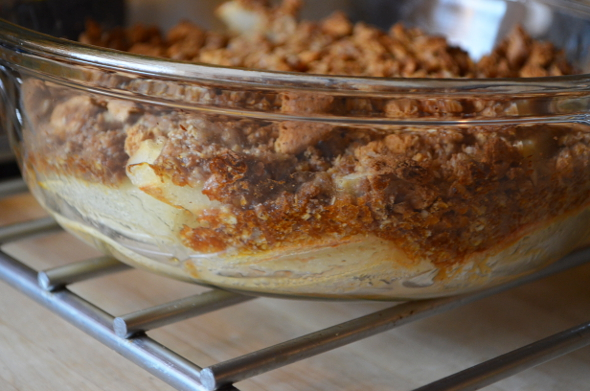 Caramel Pear Crisp Easy Bubbling