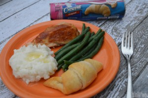 Simple Holiday Meal Plan featuring Pillsbury Crescent Rolls