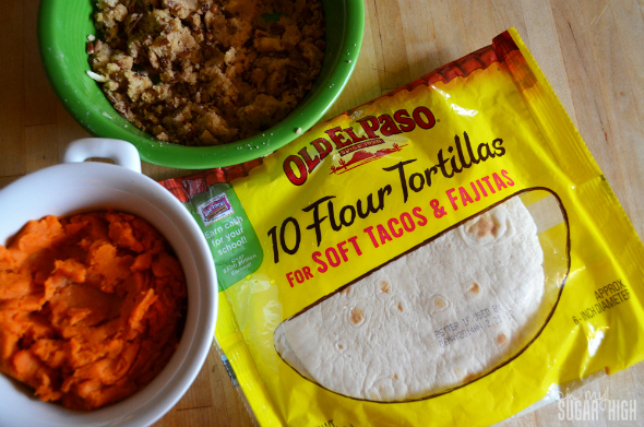 Sweet Potato Praline Quesadilla Thanksgiving Leftovers and Old El Paso 1