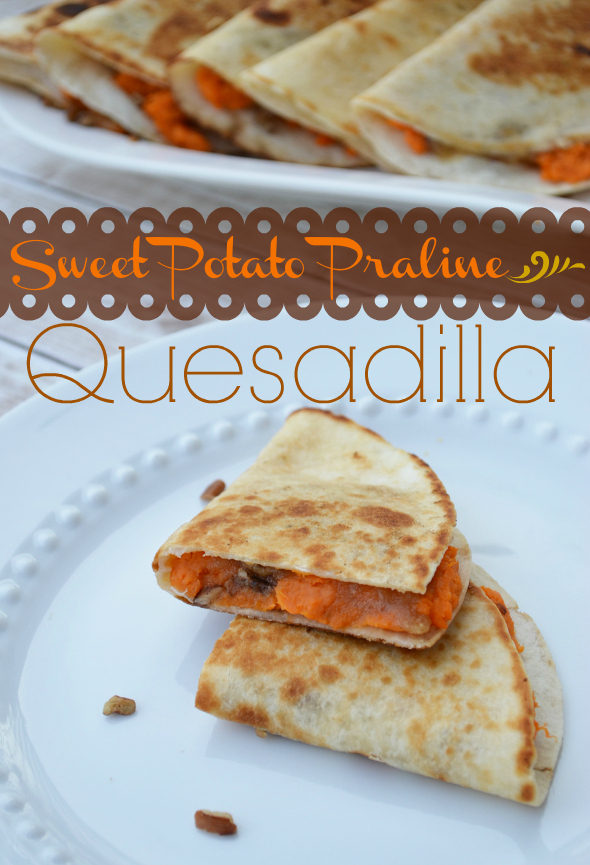 Sweet Potato Praline Quesadilla Thanksgiving Leftovers with Old El Paso