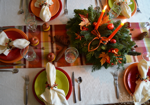 Thanksgiving Tablescape Proflowers Centerpiece View from Top
