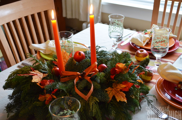 Thanksgiving Tablescape Proflowers Centerpiece with Candles