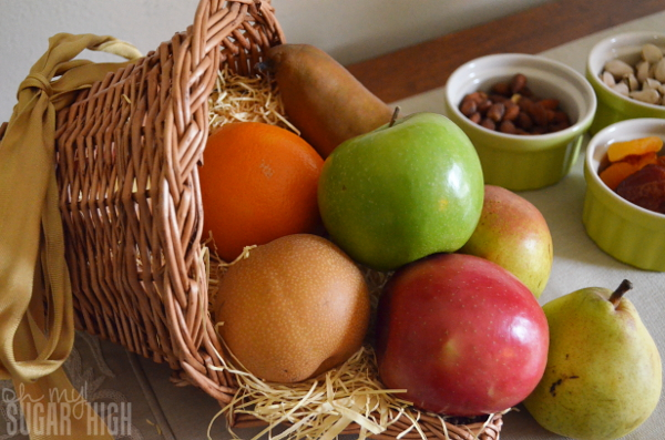 Thanksgiving Tablescape Proflowers Cornocopia Fruit Basket