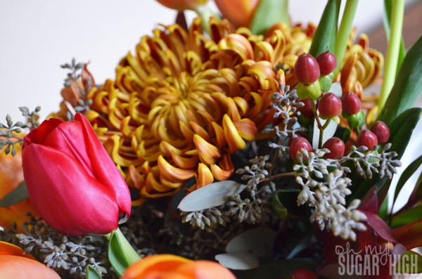 Thanksgiving Tablescape Proflowers Flowers Closeup 1