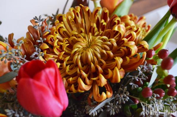 Thanksgiving Tablescape Proflowers Flowers Closeup