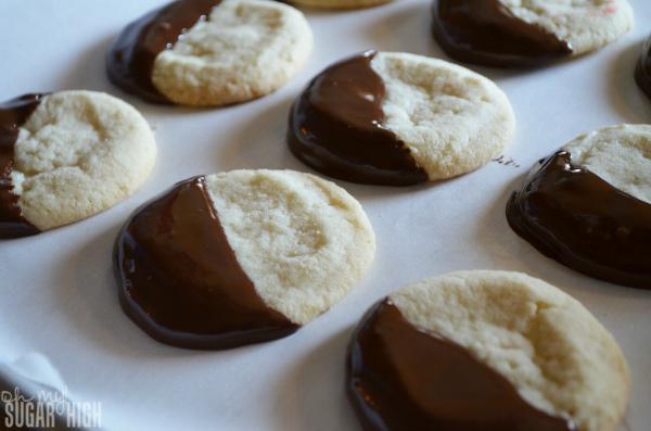 Chocolate Dipped Sugar Cookies Oh My Sugar High