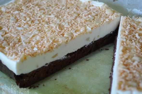 Layered Coconut Macadamia Nut Fudge Step 10