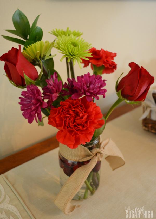 Proflowers Holiday Treasures Bouquet Mason Jar Cranberries