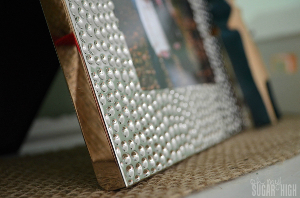 Red Envelope Holiday Winter Mantlescape Silver Frame Closeup