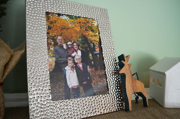 Red Envelope Holiday Winter Mantlescape Silver Frame
