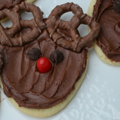 Frosted Holiday Reindeer Cookies