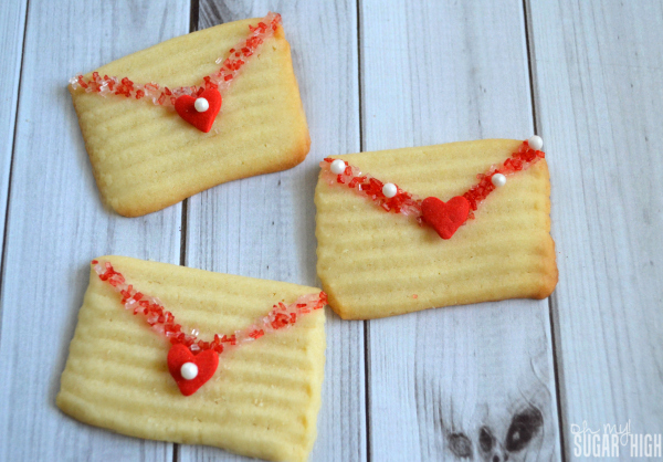 Valentine Love Note Butter Cookies Envelope