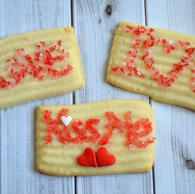 Love Note Valentine Butter Cookies