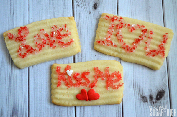 Valentine Love Note Cookies Butter Spritz