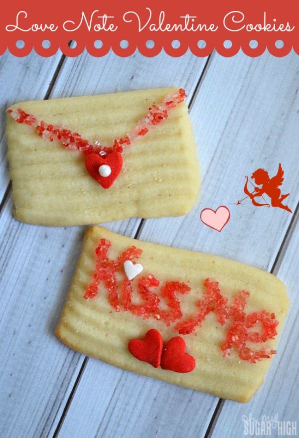 Valentines Day Cookies Love Note Butter Cookies