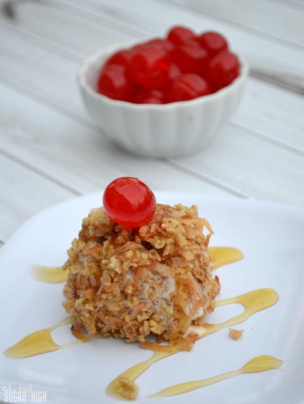 Crunchy Ice Cream Balls with Honey