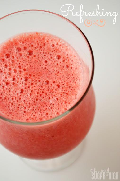 Refreshing Strawberry Raspberry Summer Drink