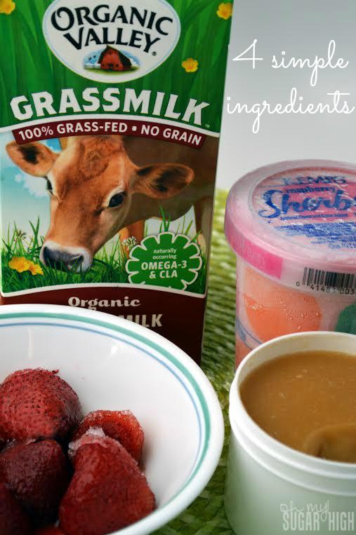 Strawberry Raspberry Summer Drink Ingredients
