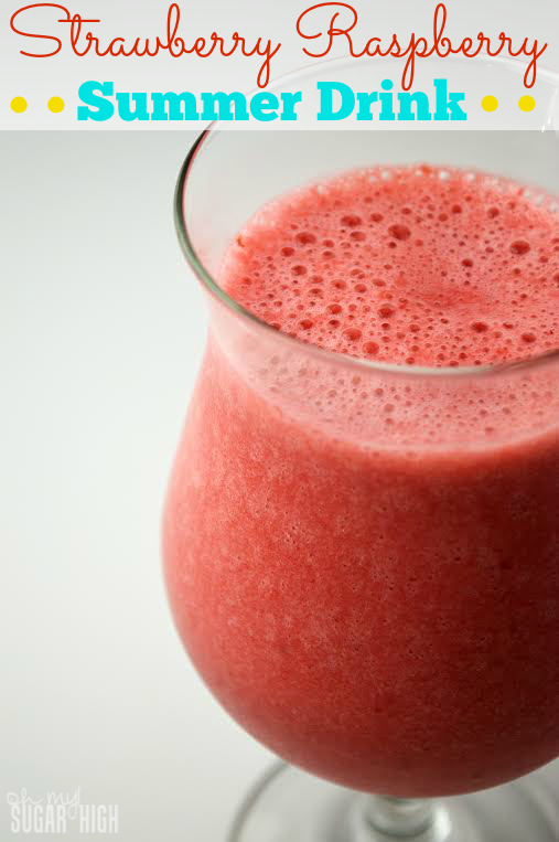 Strawberry Raspberry Summer Drink