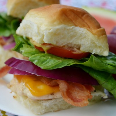 Chicken Bacon Sliders with Honey Mustard