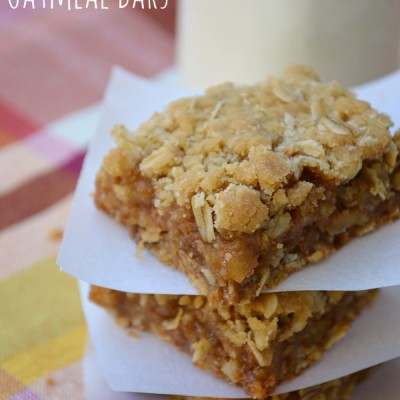 Caramel Apple Oatmeal Bars