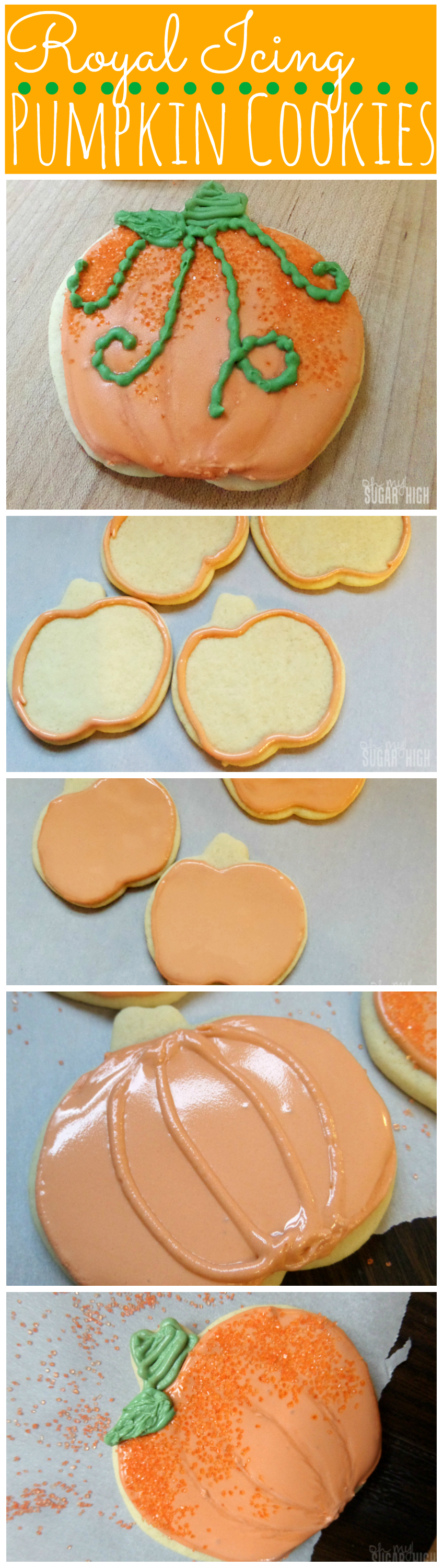 Pumpkin Cookies with Royal Icing Tutorial