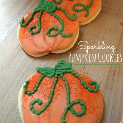 Royal Icing Pumpkin Cookies with Vines