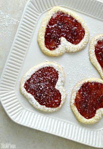 Valentine Cherry Jam Heart Cookies