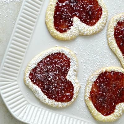Valentine Cherry Filled Heart Cookies