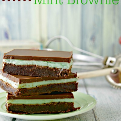 Fudge Mint Brownies: Perfect Layered Dessert for St. Patrick's Day