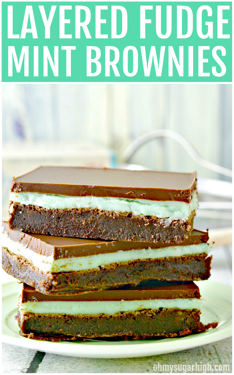 Love mint and chocolate desserts? You'll love this fudge mint brownies recipe. This layered brownie is oh so delicious and makes a great dessert any time of year, especially St. Patrick's Day!