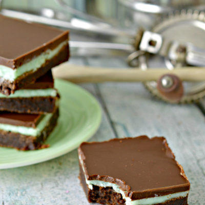 Layered Fudge Mint Brownies