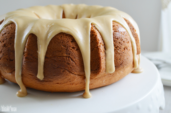 Lemon Bundt Cake with Brown Sugar Glaze