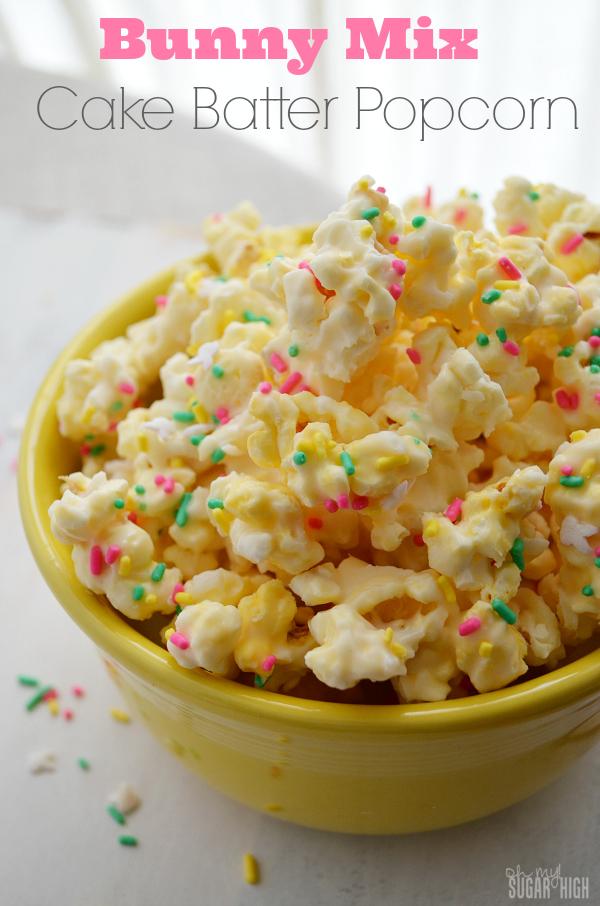 Bunny Mix Cake Batter Popcorn