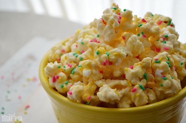 Bunny Mix Cake Batter Popcorn For Easter Oh My Sugar High